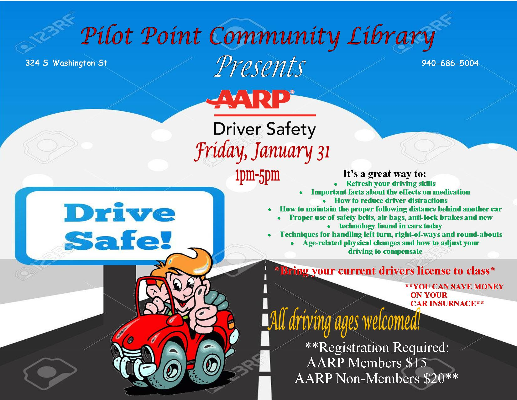 AARP Driver Safety flier